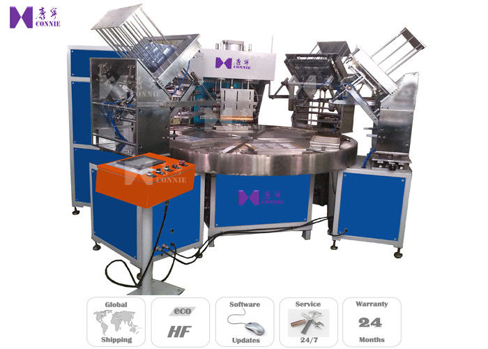 Auto Turntable Blister High Frequency Welding Machine 6 Work Stations For Packing Knife